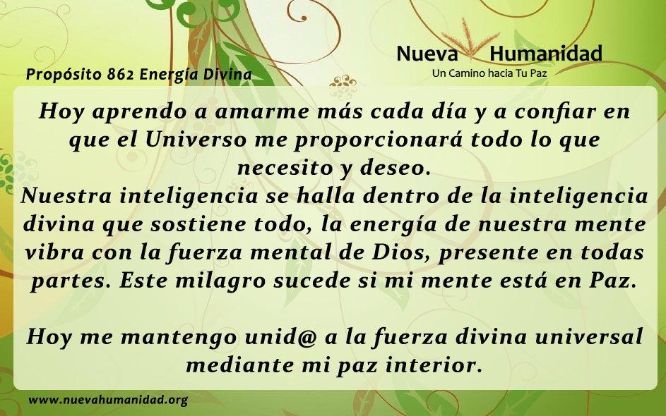 Propósito 862 Energía divina