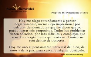 Propósito 865 Pensamiento positivo