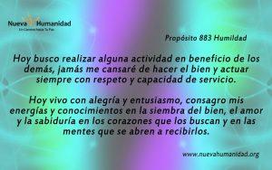 Propósito 883 Humildad