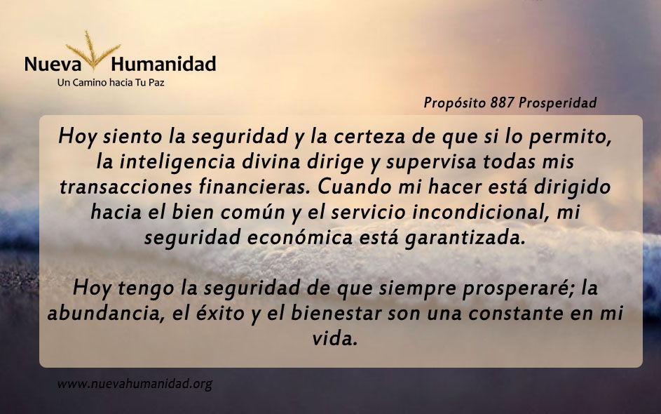 Propósito 887 Prosperidad