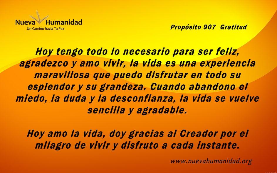 Propósito 907 Gratitud