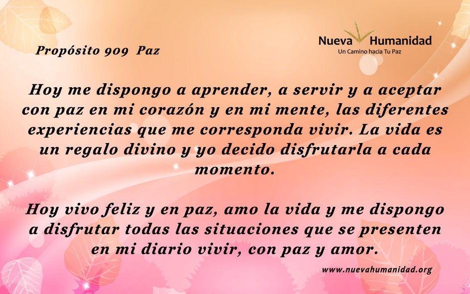 Propósito 909 Paz