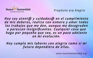 Propósito 919 Alegría