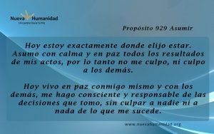 Propósito 929 Asumir