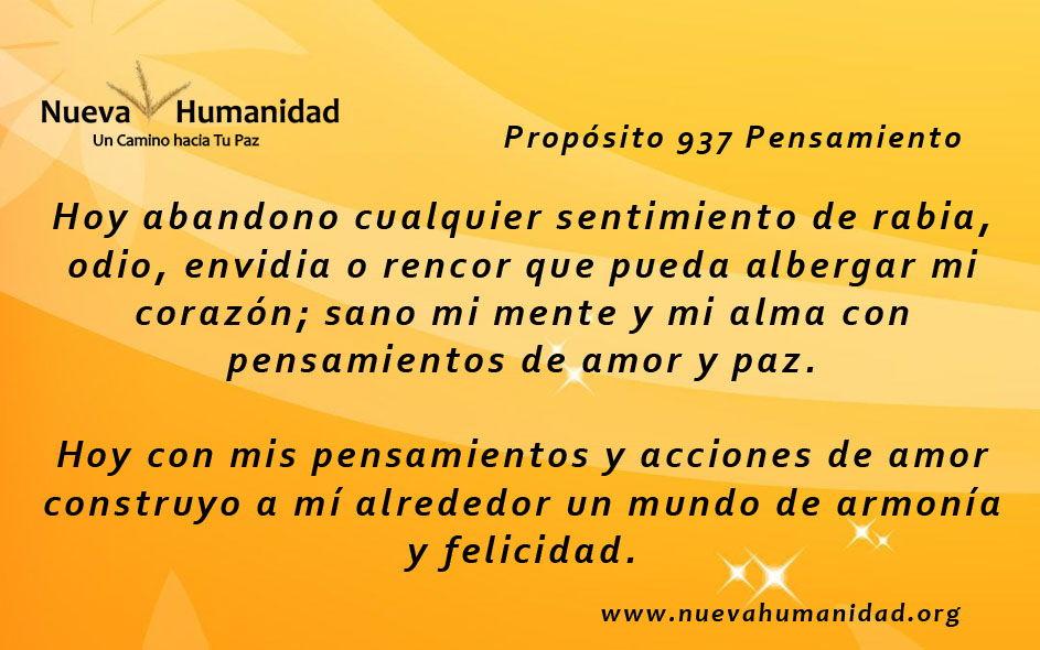 Propósito 937 Pensamiento