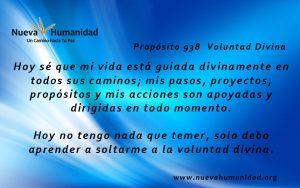 Propósito 938 Voluntad divina