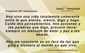 Propósito 957 Coherencia