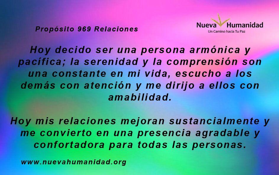 Propósito 969 Relaciones