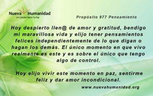 Propósito 977 Pensamiento