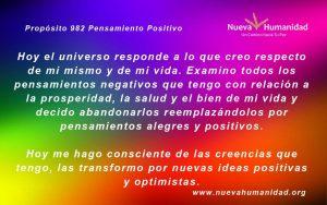 Propósito 982 Pensamiento positivo