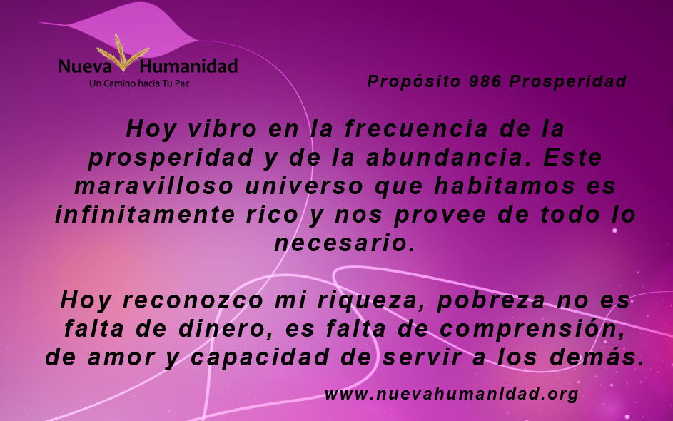 Propósito 986 Prosperidad