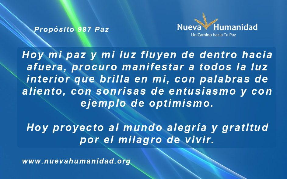 Propósito 987 Paz