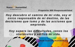 Propósito 989 Responsabilidad