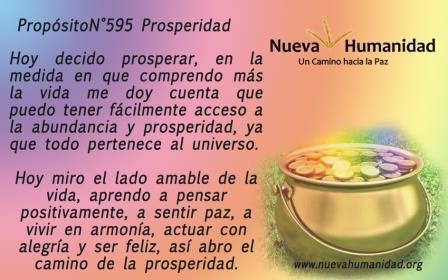 Propósito 595 Prosperidad
