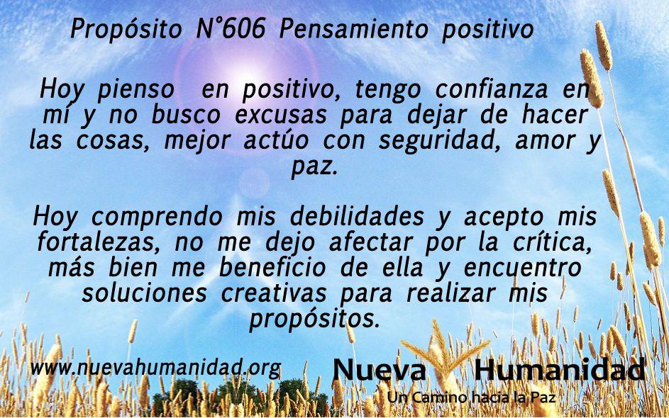 Propósito 606 Pensamiento positivo