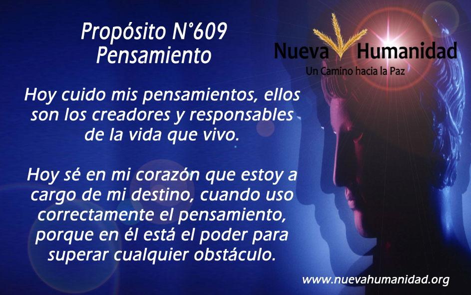 Propósito 609 Pensamiento