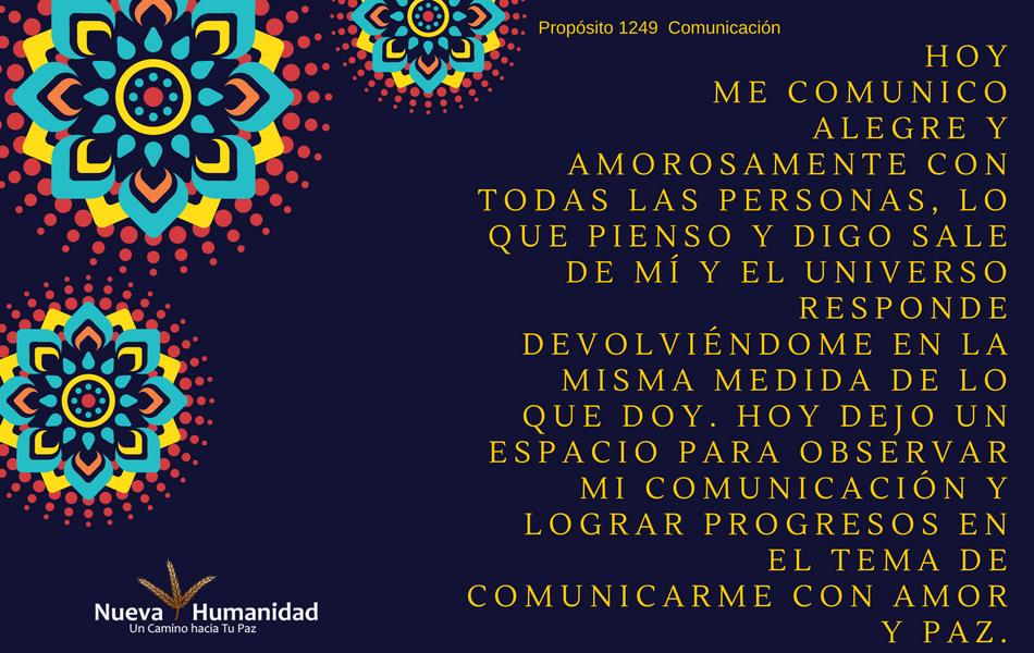 Propósito 1249 Comunicación