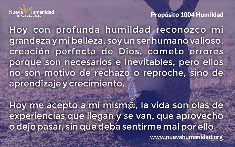 Propósito 1004 Humildad