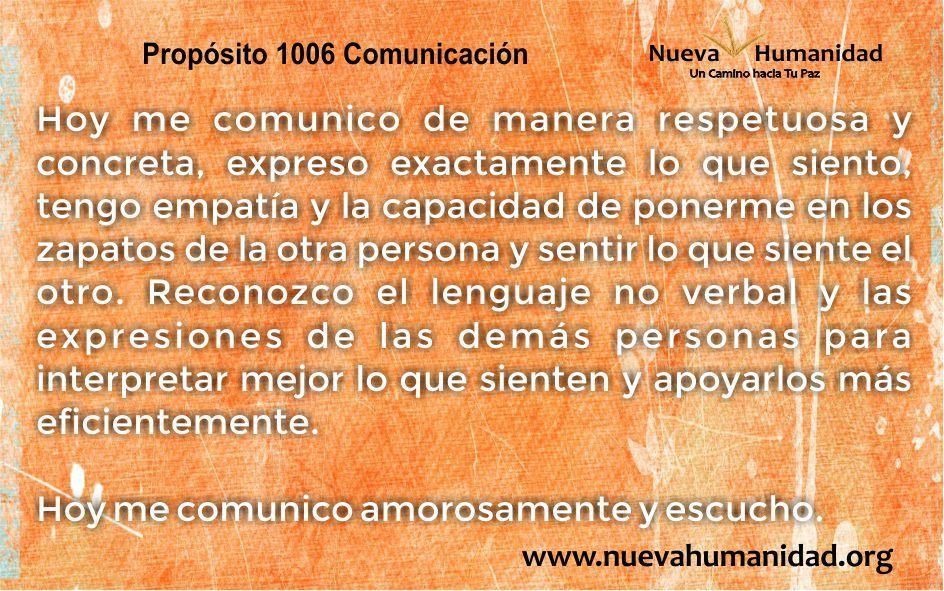 Propósito 1006 Comunicación