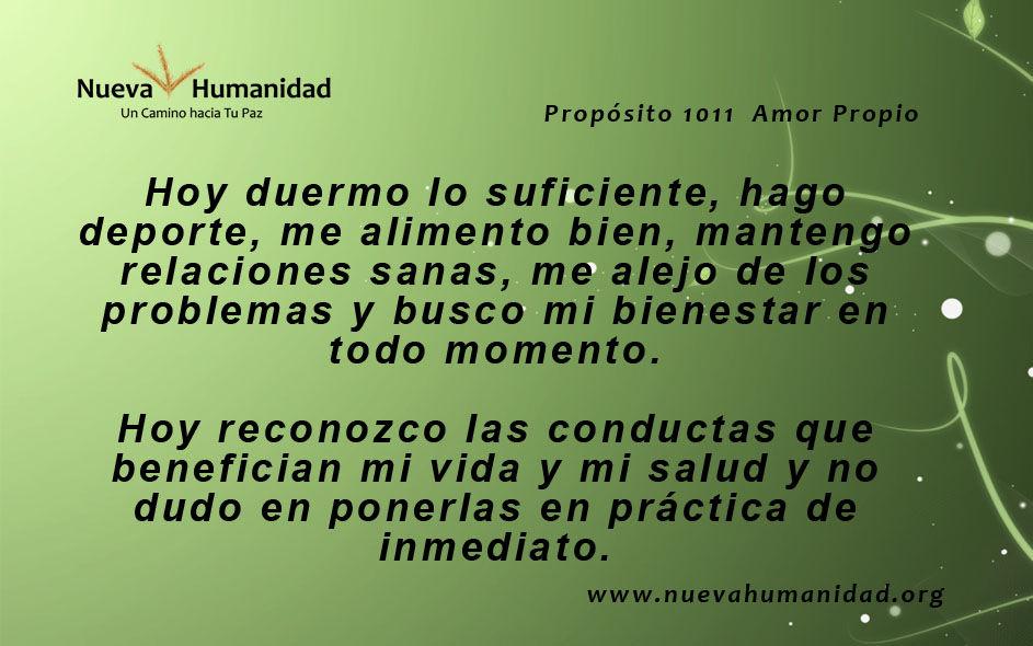 Propósito 1011 Amor propio