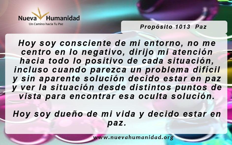 Propósito 1013 Paz