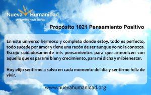 Propósito 1021 Pensamiento positivo