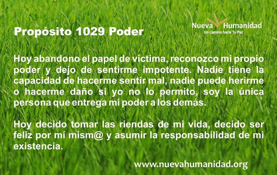 Propósito 1029 Poder
