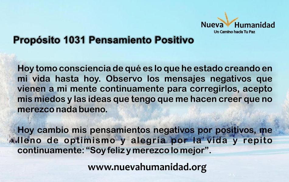 Propósito 1031 Pensamiento positivo