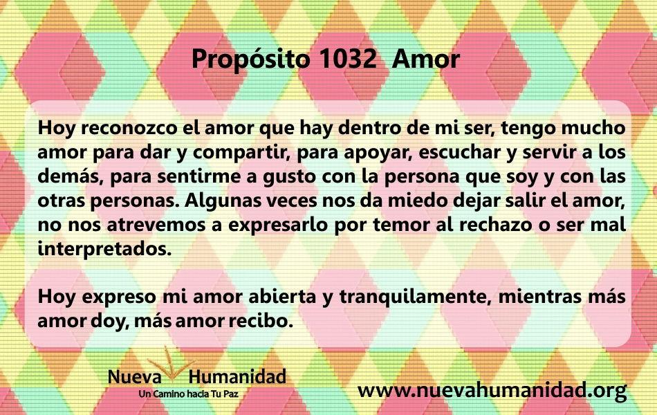 Propósito 1032 Amor