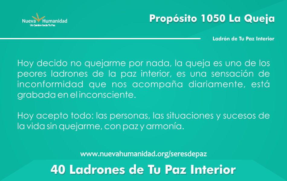 Propósito 1050 La queja