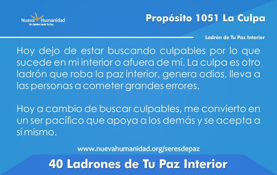 Propósito 1051 La culpa