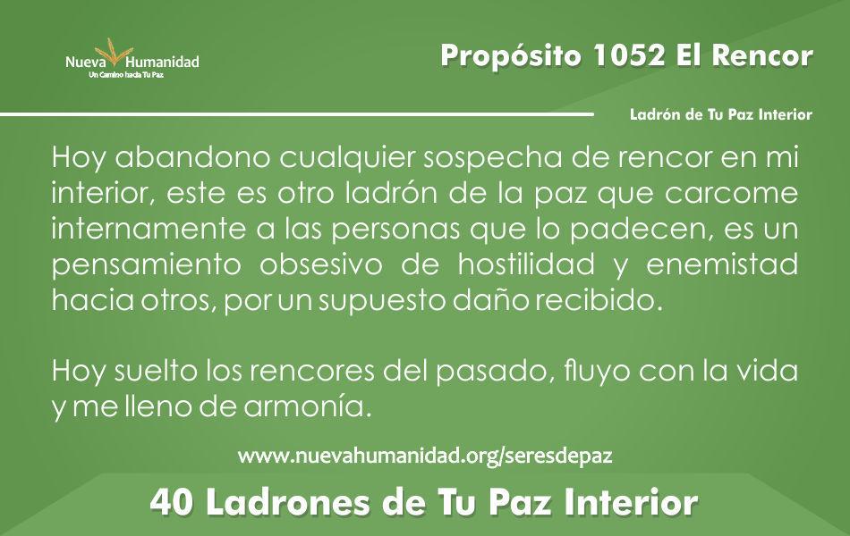 Propósito 1052 El rencor