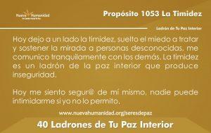 Propósito 1053 la Timidez