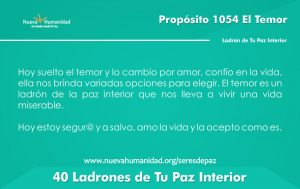 Propósito 1054 El temor