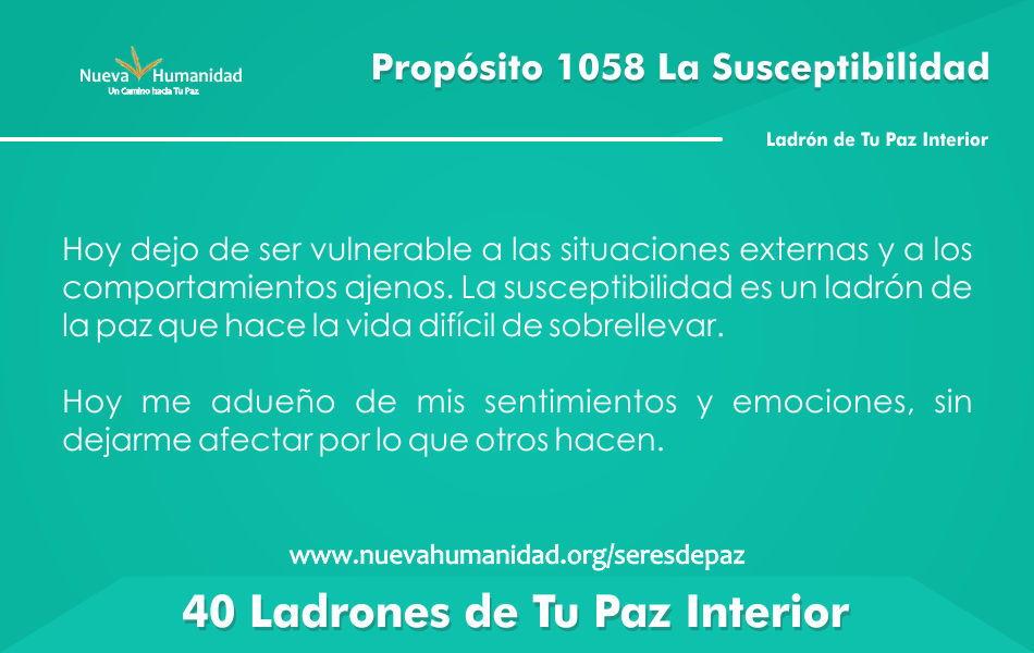 Propósito 1058 La susceptibilidad