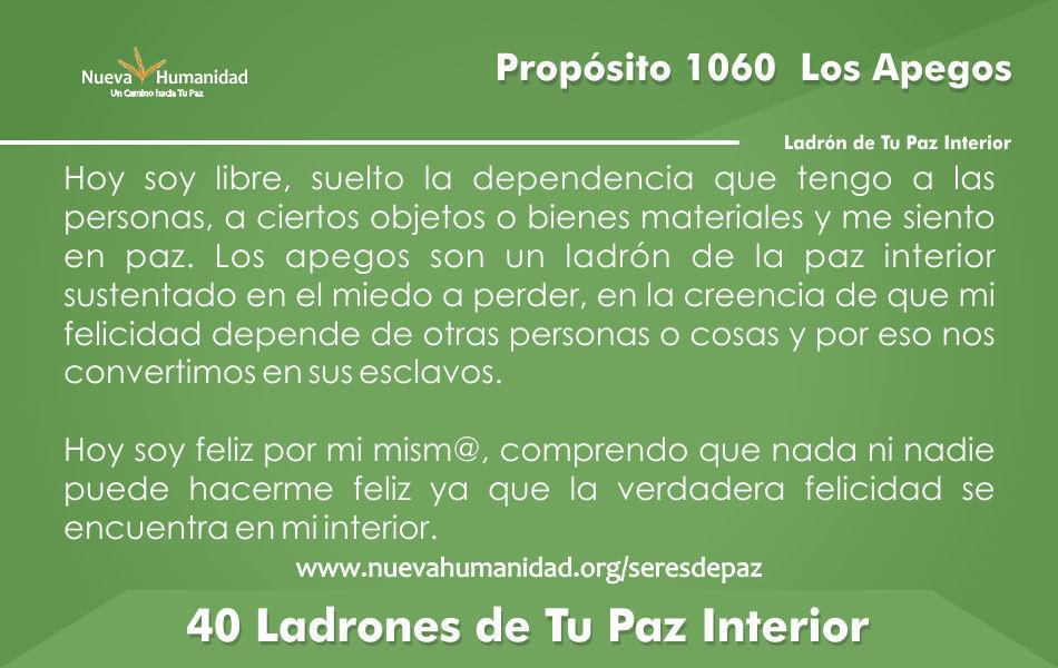 Propósito 1060 Los apegos