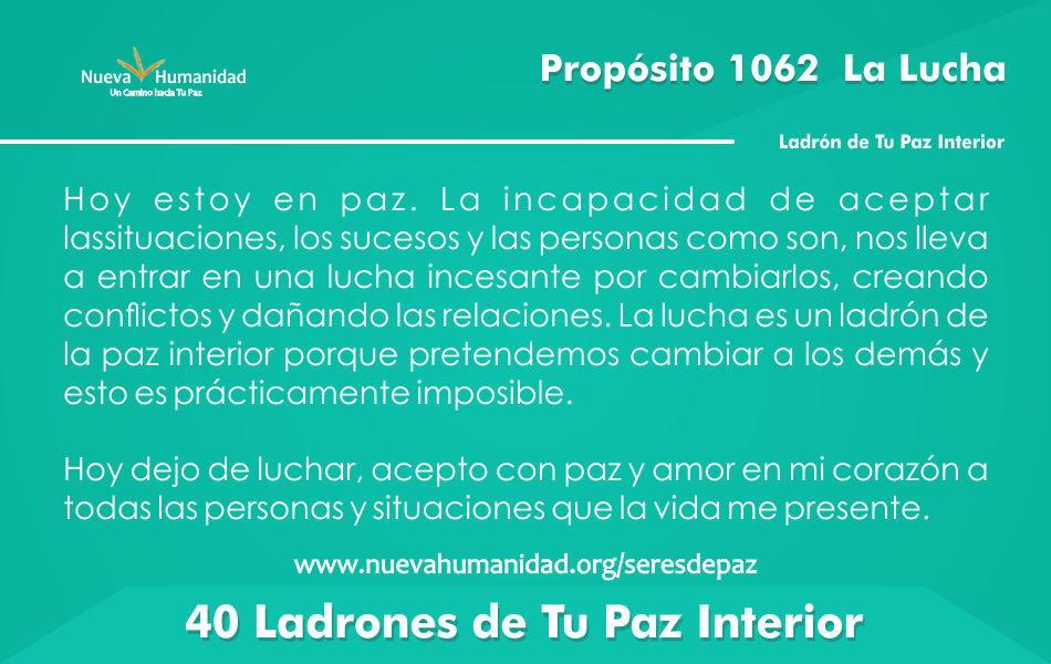 Propósito 1062 La lucha