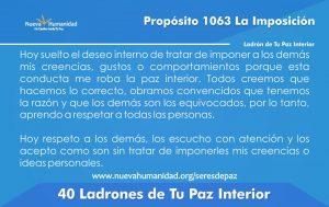 Propósito 1063 La imposición