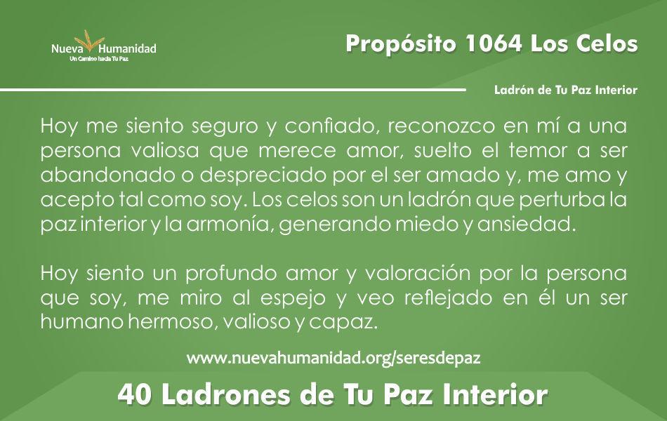Propósito 1064 Los celos
