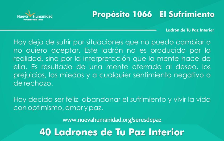 Propósito 1066 El sufrimiento