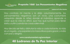 Propósito 1068 Los Pensamientos negativos