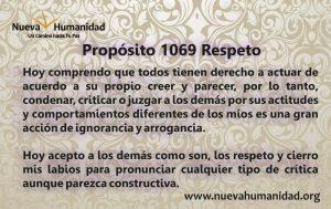 Propósito 1069 Respeto