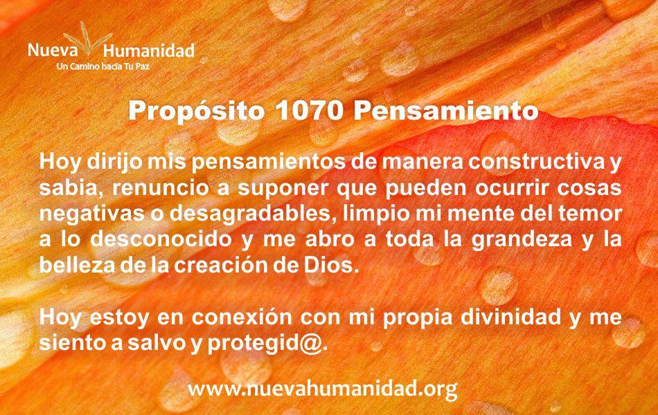 Propósito 1070 Pensamiento