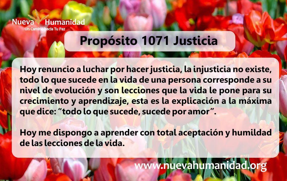Propósito 1071 Justicia