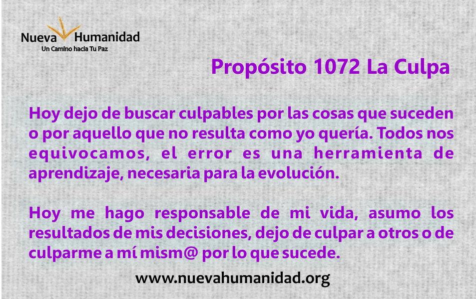 Propósito 1072 La culpa