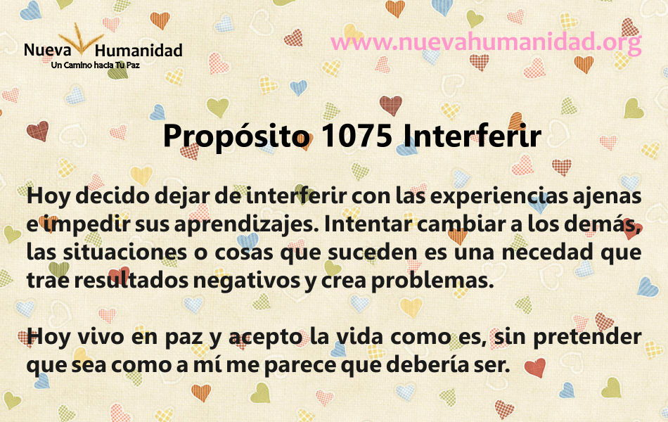 Propósito 1075 Interferir