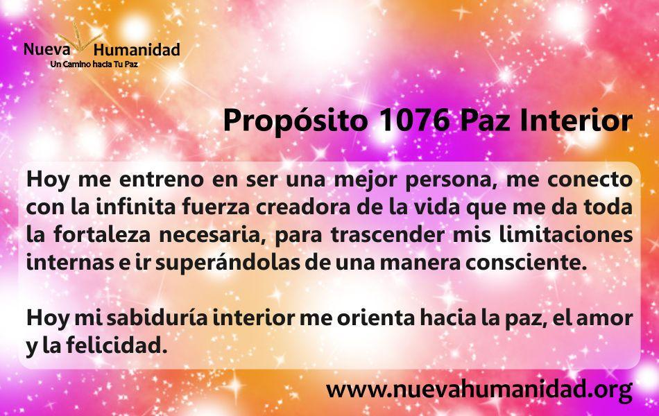 Propósito 1076 Paz interior