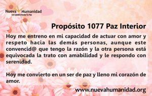 Propósito 1077 Paz interior