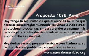Propósito 1078 Amor