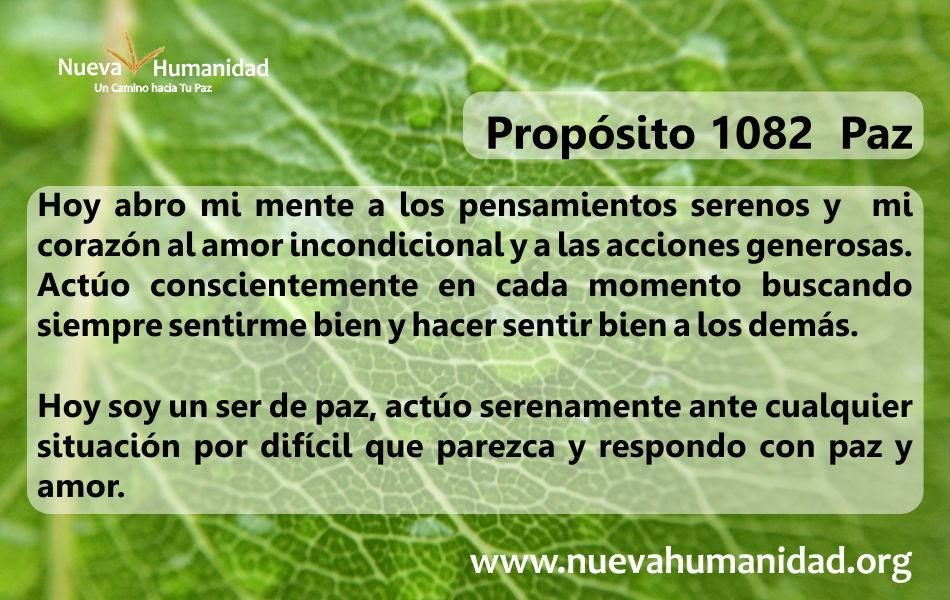 Propósito 1082 Paz